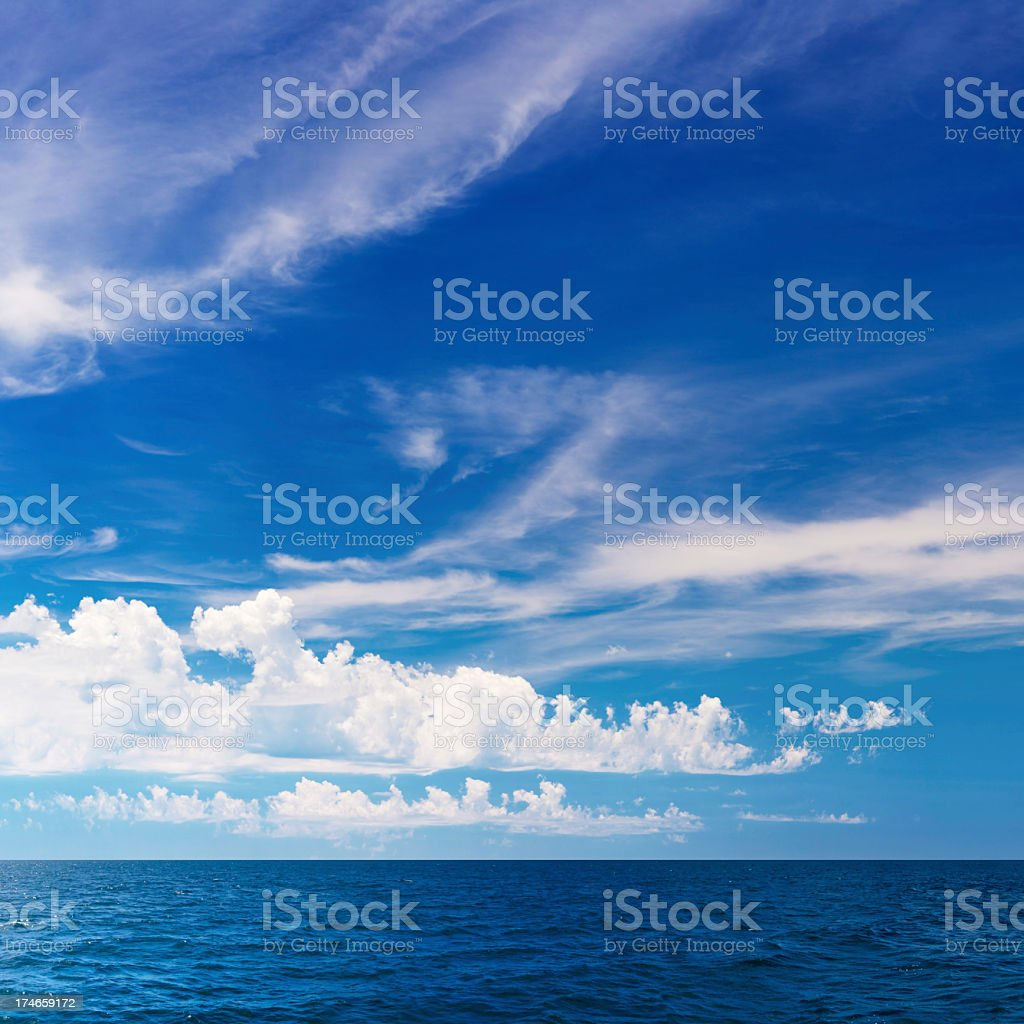 Cloudscape Over Ocean royalty-free stock photo