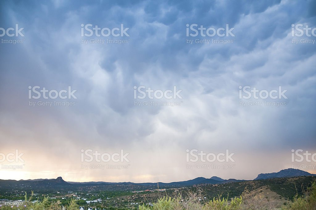 Cloudscape over Prescott Arizona stock photo