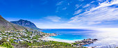 Cloudscape panorama of Hout Bay in Cape Town