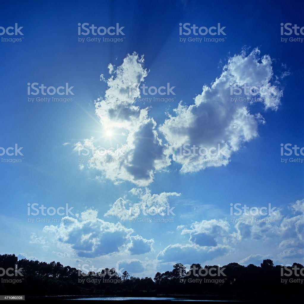 Cloudscape (image size XXL) royalty-free stock photo