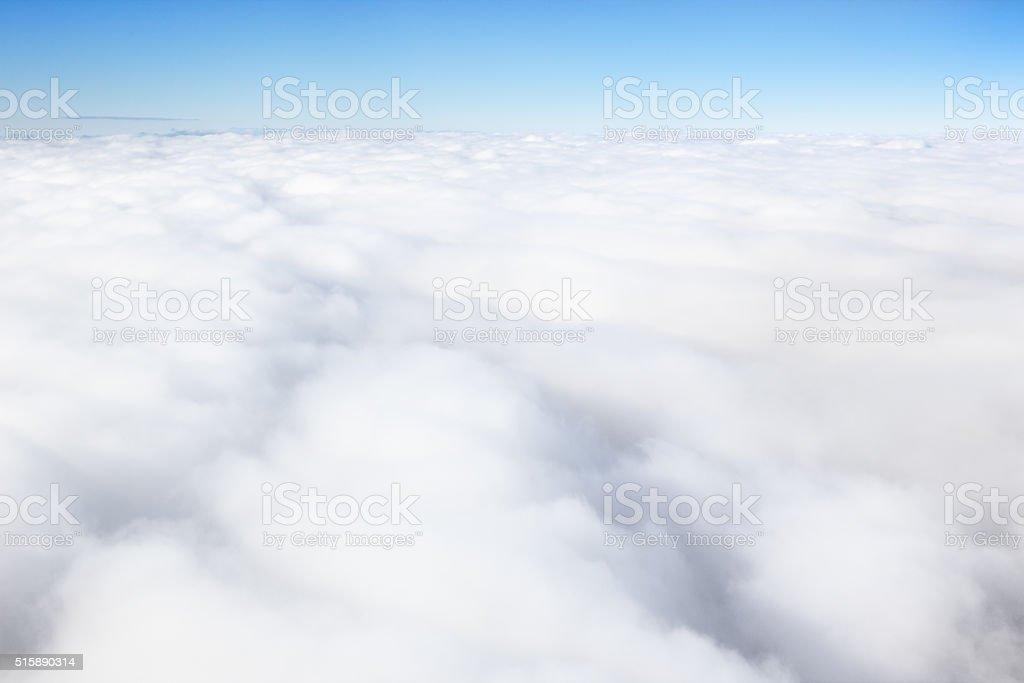 Cloudscape Sky Stratosphere Space Horizon stock photo