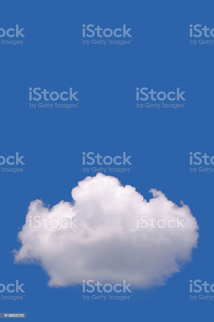Cloudscape under blue sky stock photo