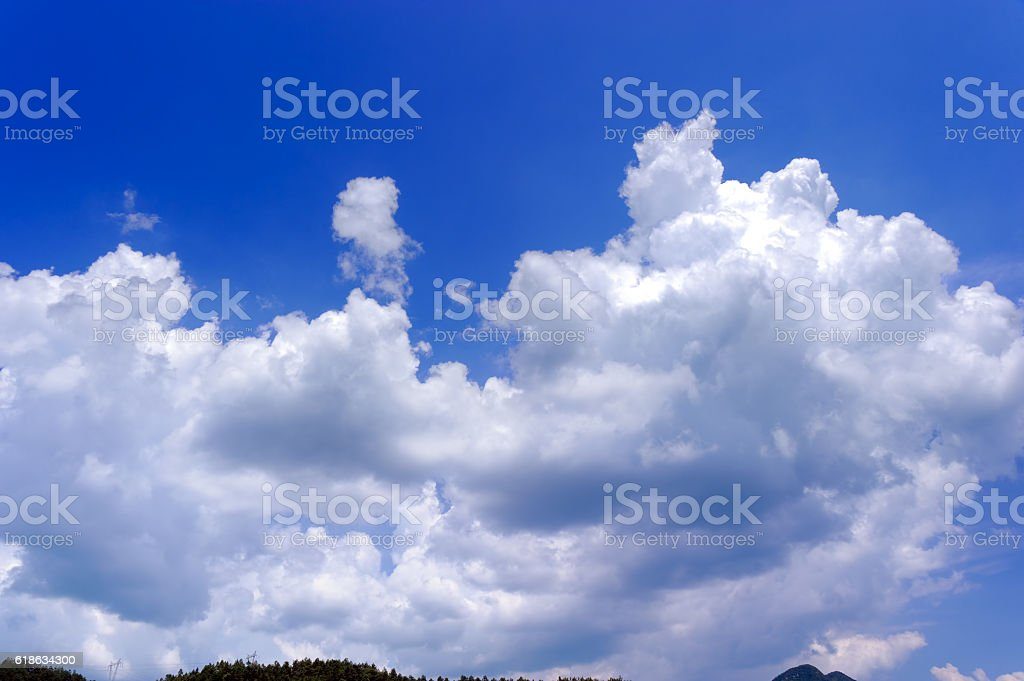 Cloudscape under blue sky stock photo