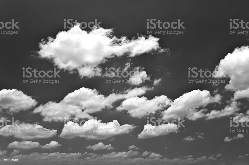 Cloudscape under the sky stock photo