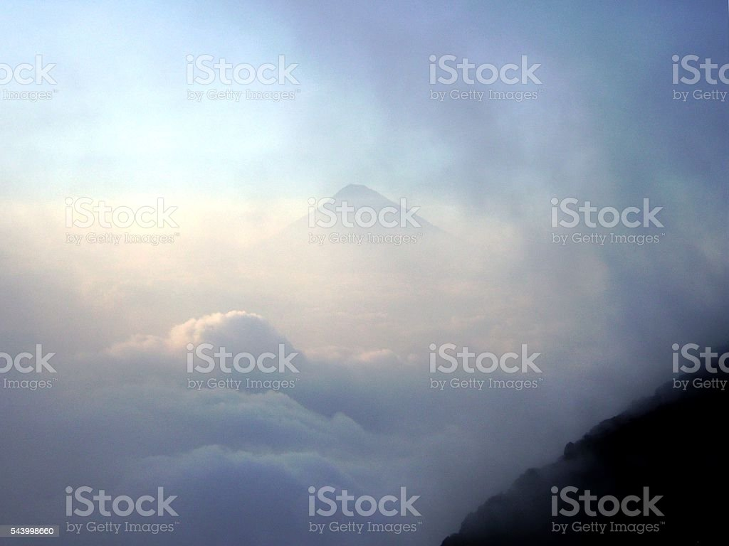 Cloudscape view from Pacaya volcano, Guatemala stock photo
