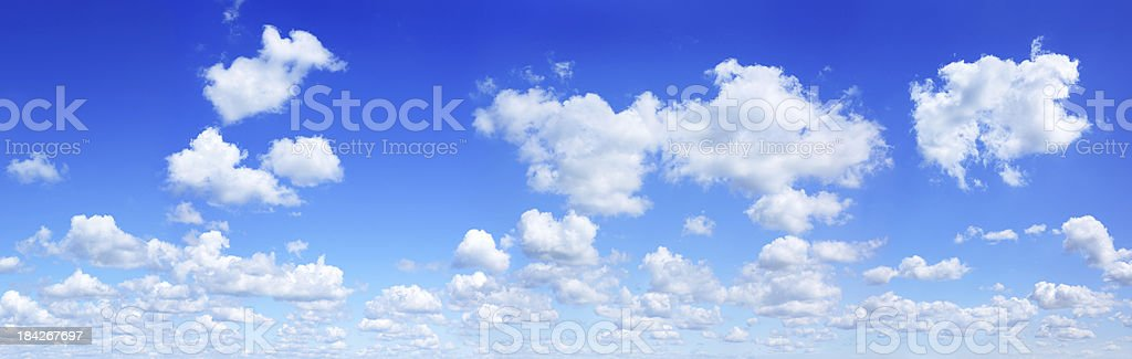 Cloudscape, White clouds in the blue sky, SCROLL DOWN formore royalty-free stock photo