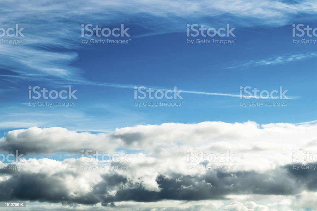 Cloudscape with blue sky royalty-free stock photo