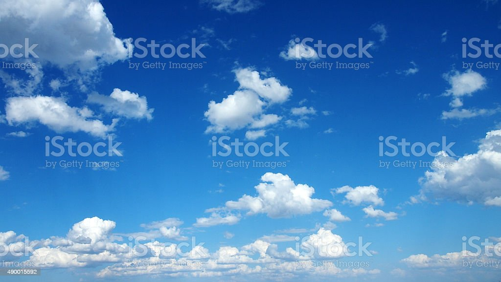 Cloudscape with Blue Sky stock photo