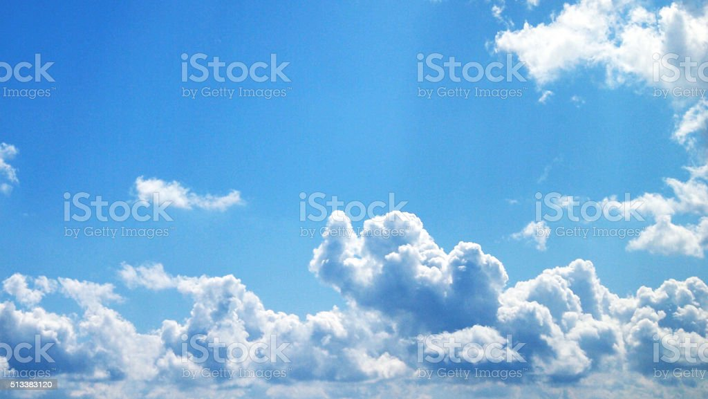 Cloudscape with Light Blue Sky stock photo
