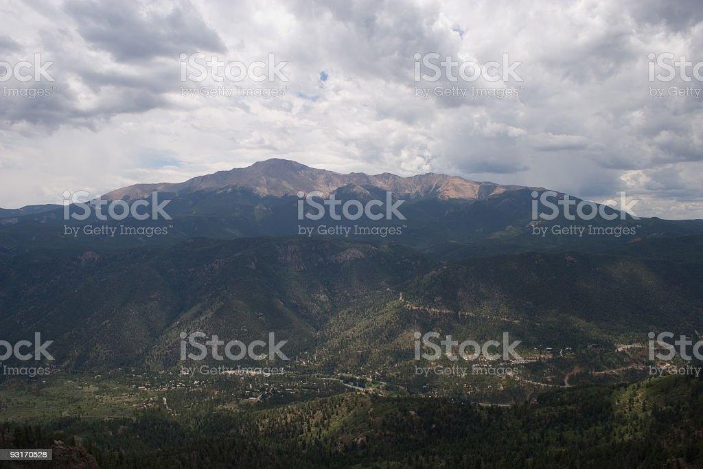 cloudsovercascade stock photo