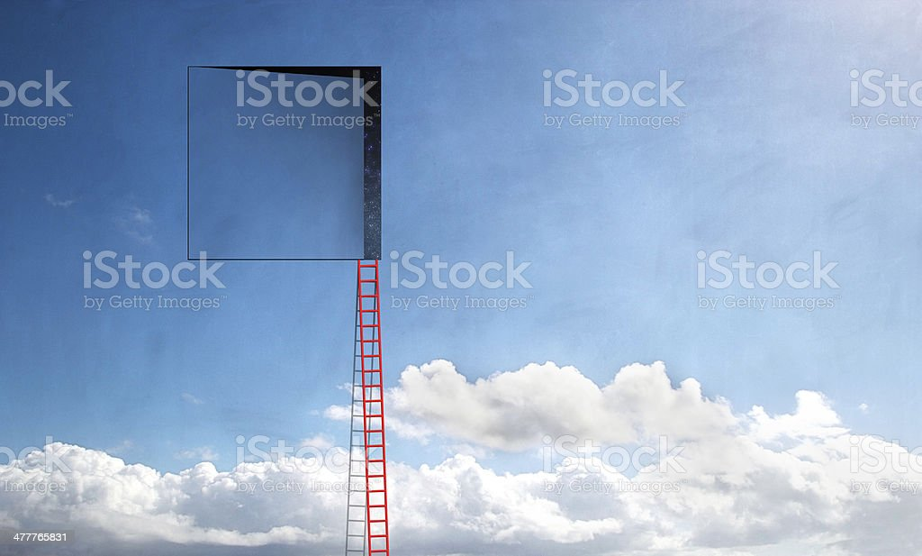 Cloudspace and Ladder stock photo