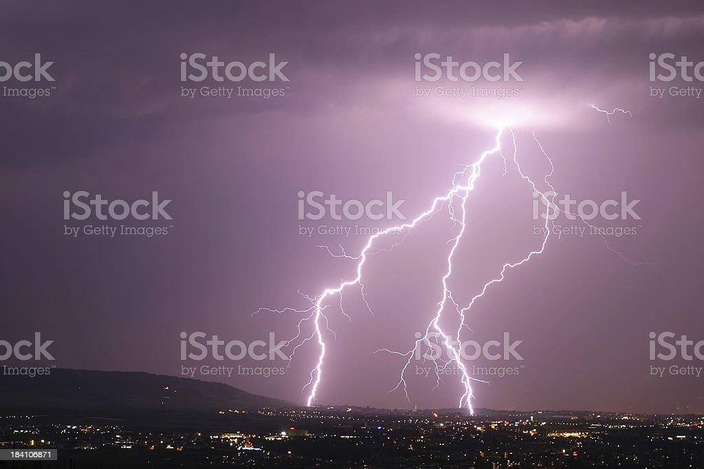 cloud-to-ground lightning royalty-free stock photo