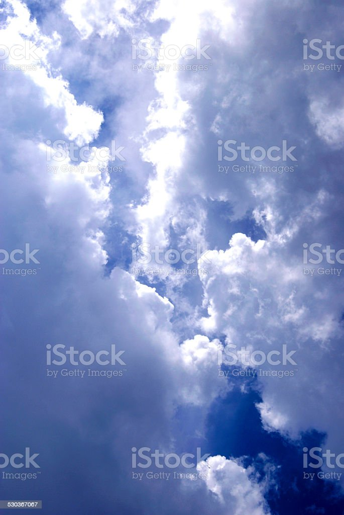 Cloudy Battle royalty-free stock photo