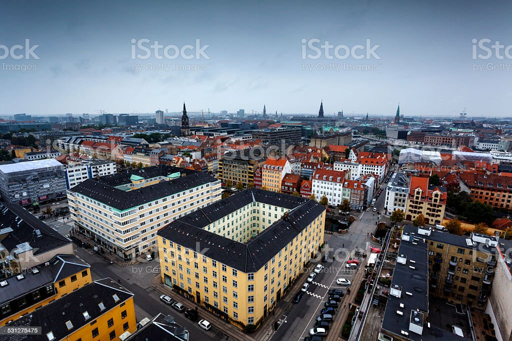 Cloudy Copenhagen stock photo