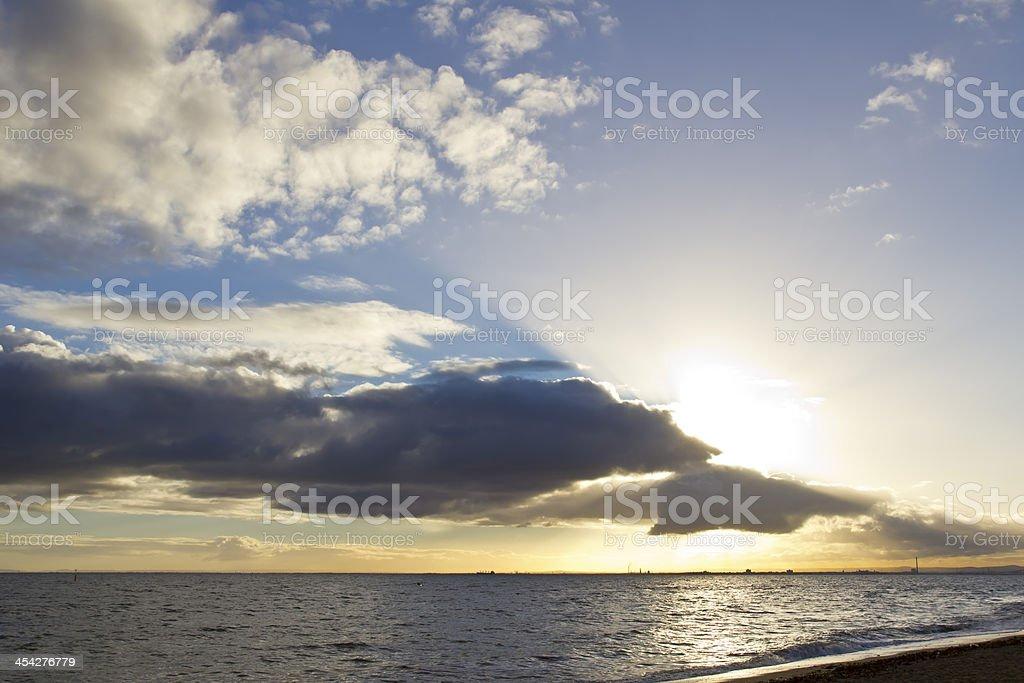 Cloudy dawn royalty-free stock photo