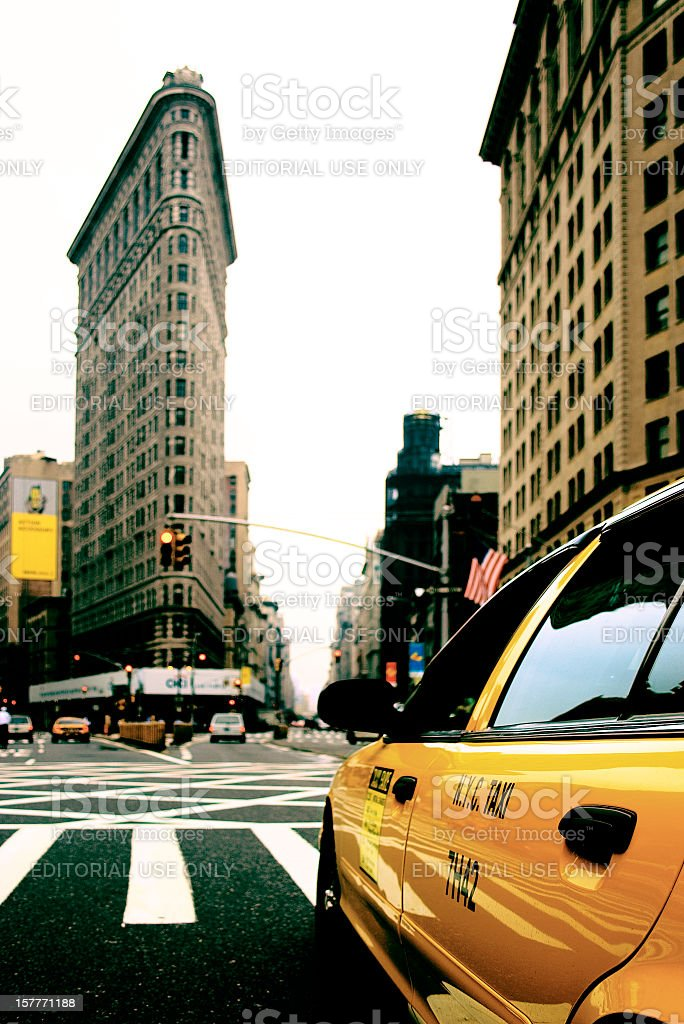 Cloudy day at New York, 5th Avenue. royalty-free stock photo
