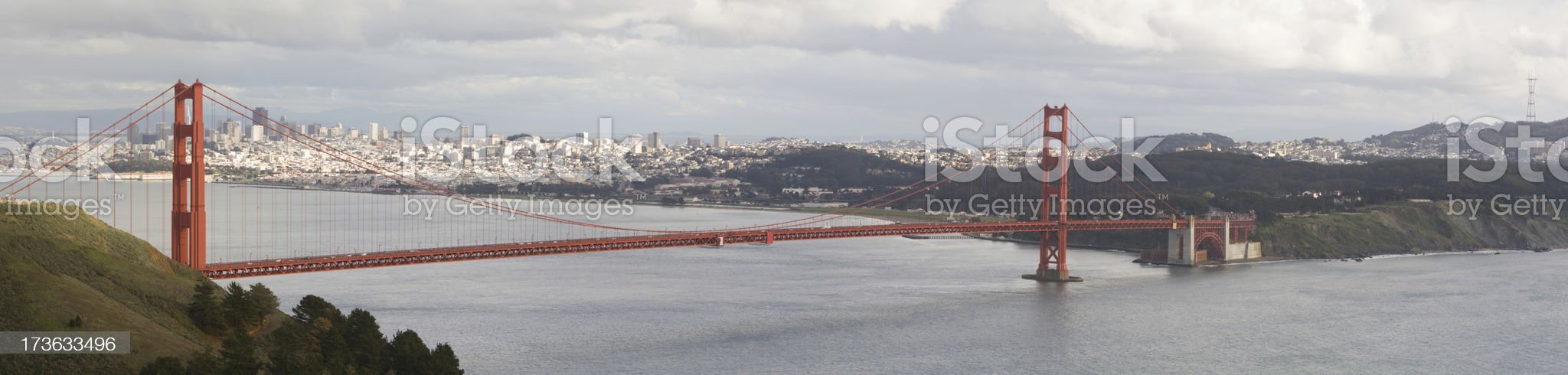 Cloudy Day in San Francisco royalty-free stock photo