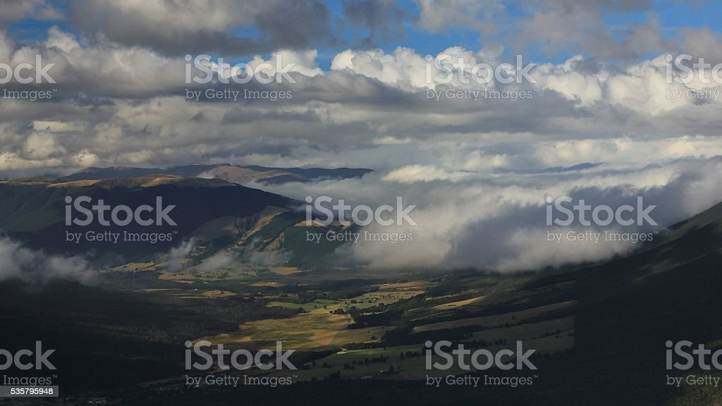 Cloudy day in St Arnaud stock photo