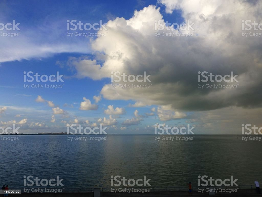 Cloudy day on the Key stock photo