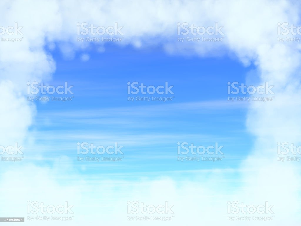 Cloudy frame in the sky royalty-free stock photo
