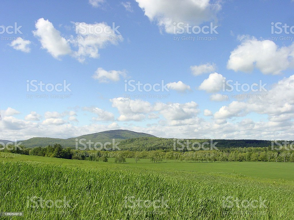 Cloudy Hills and Vales royalty-free stock photo