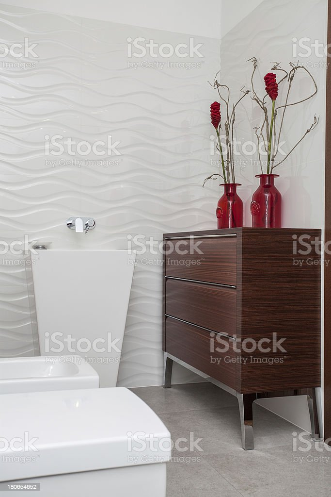 Cloudy home - bath furniture royalty-free stock photo