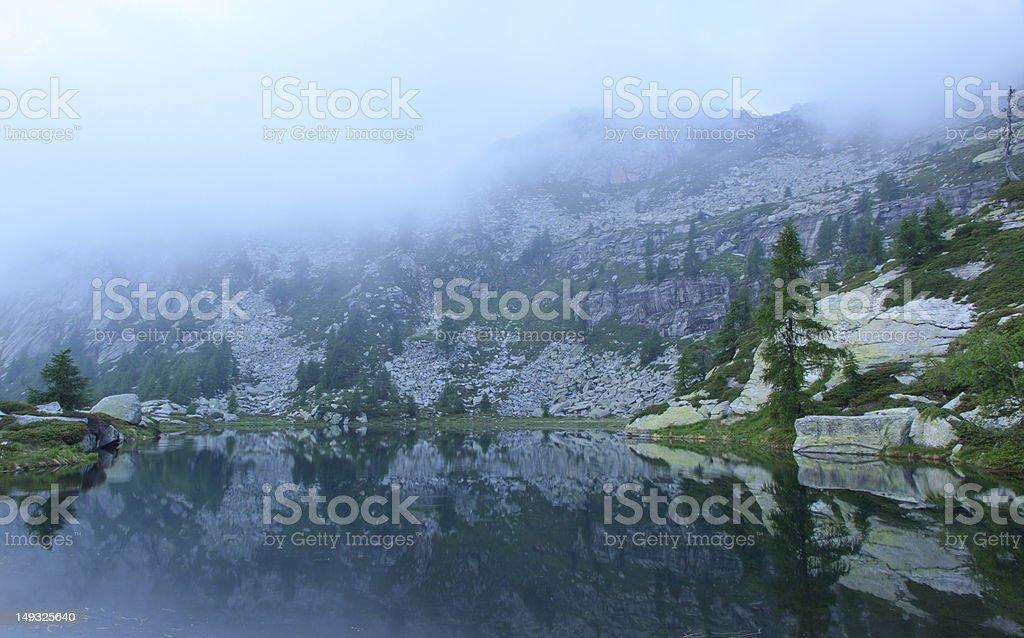 Cloudy lake royalty-free stock photo