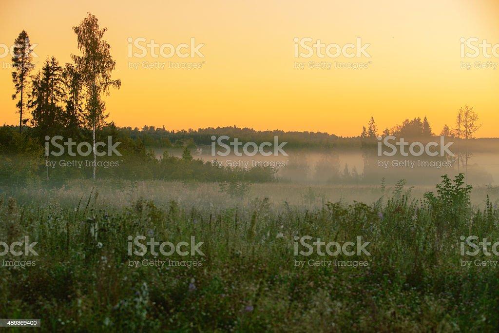 Cloudy landscape stock photo