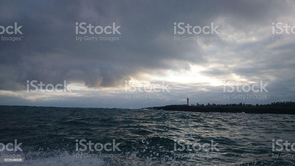 Cloudy Lanscape - Galápagos Islands stock photo