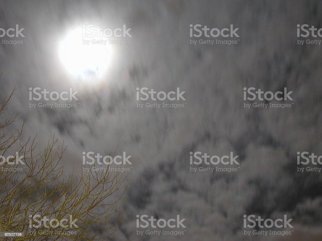 Cloudy Moon royalty-free stock photo