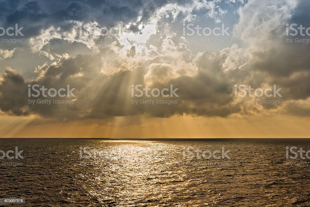 Cloudy Morning Offshore stock photo