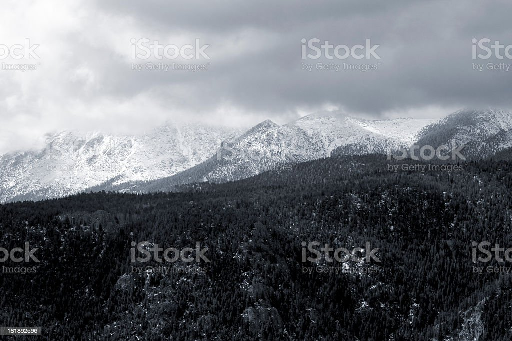 Cloudy Pikes Peak royalty-free stock photo