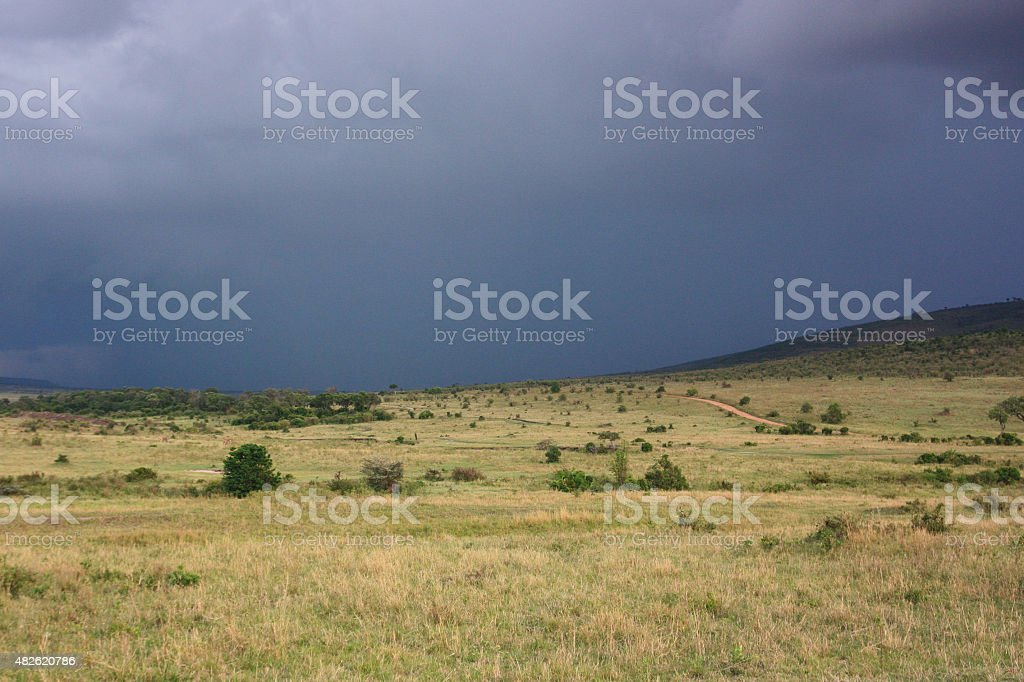 Cloudy plains royalty-free stock photo