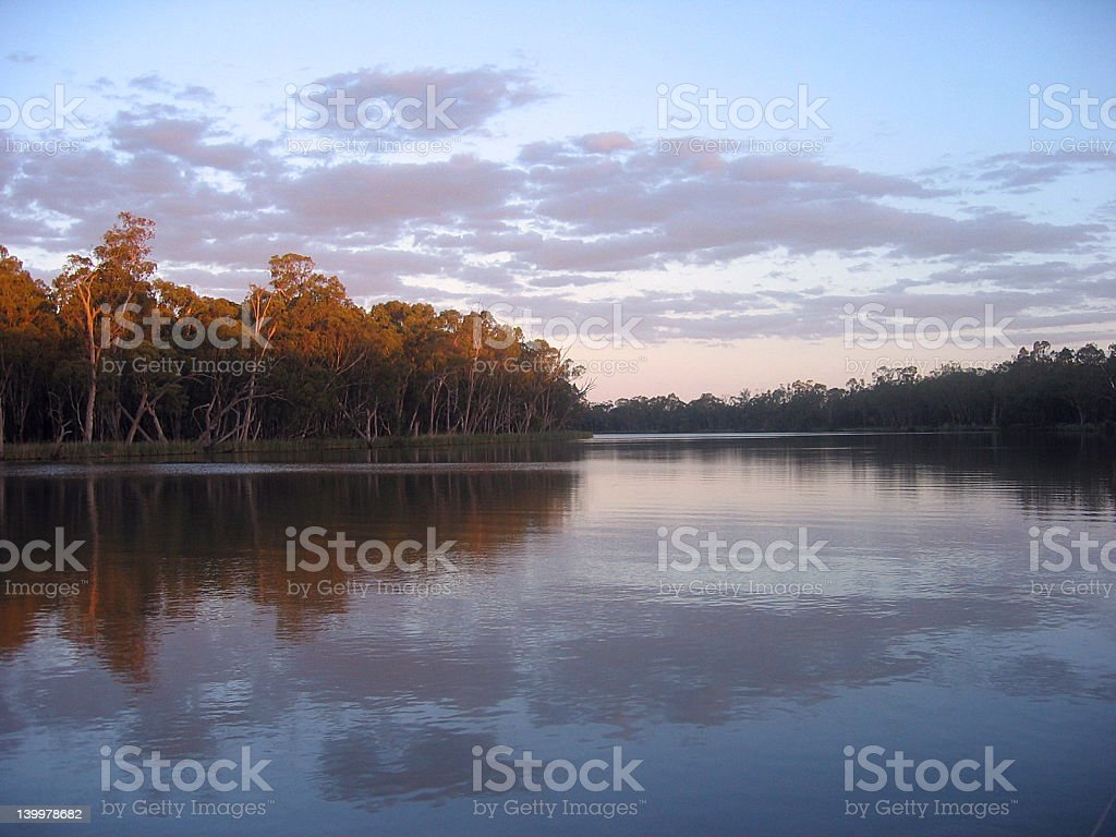 Cloudy Reflections royalty-free stock photo