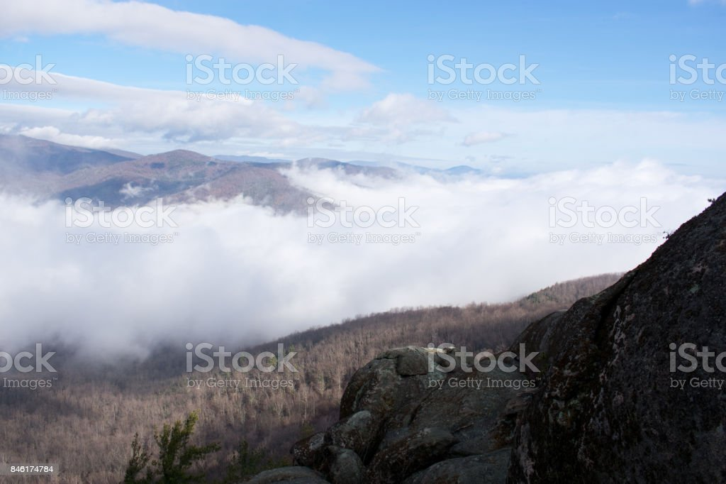 Cloudy Shenandoah National Park stock photo