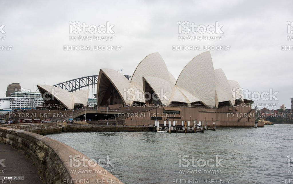 Cloudy Skies over the Sydney Opera House stock photo