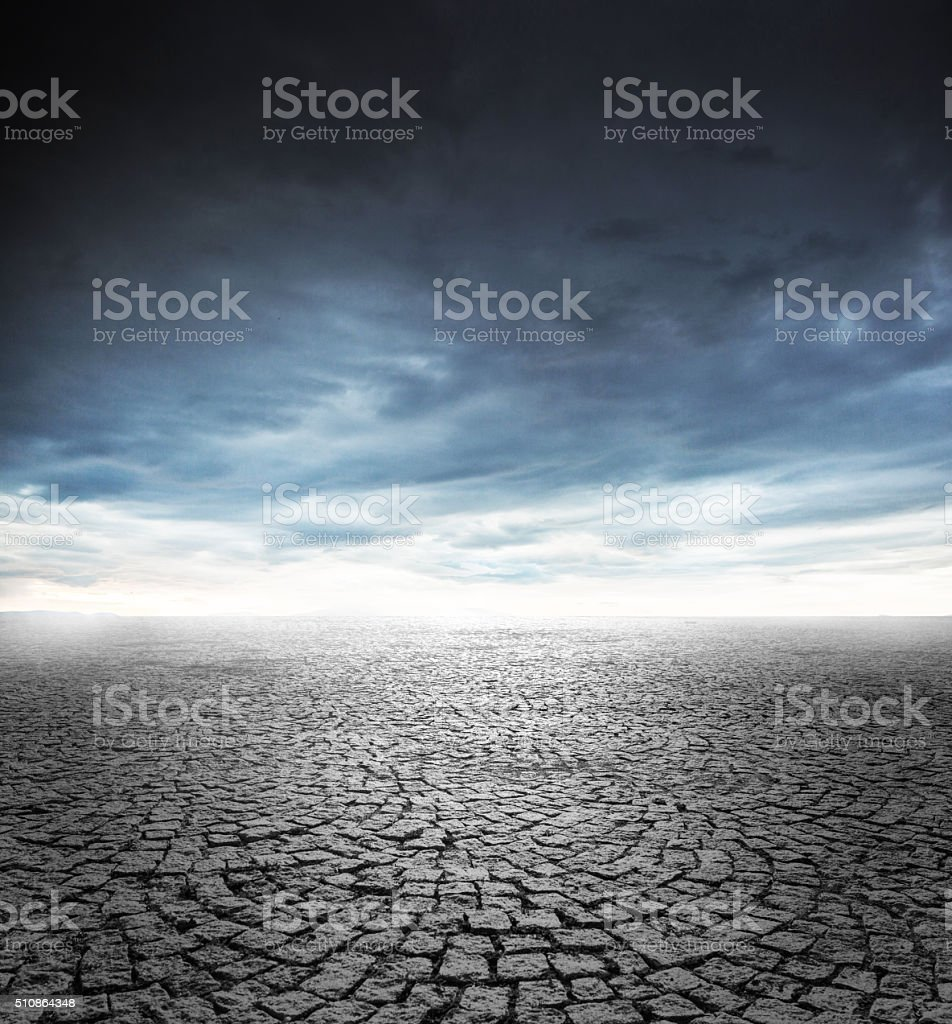 Cloudy sky and empty stone floor stock photo