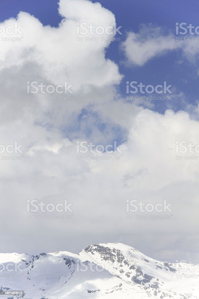 cloudy sky and mountains royalty-free stock photo