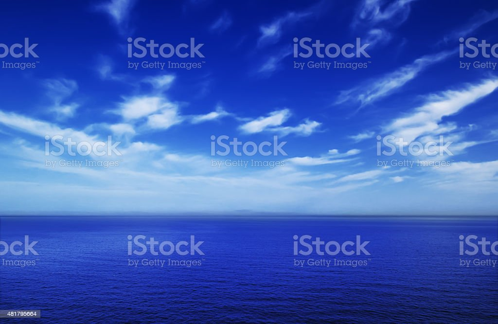 Cloudy sky and sea stock photo
