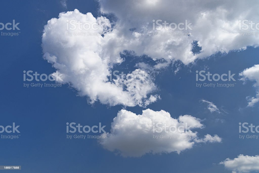 Cloudy sky at midday royalty-free stock photo