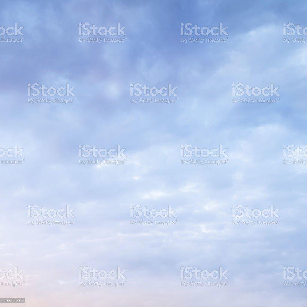 Cloudy sky at sunrise stock photo