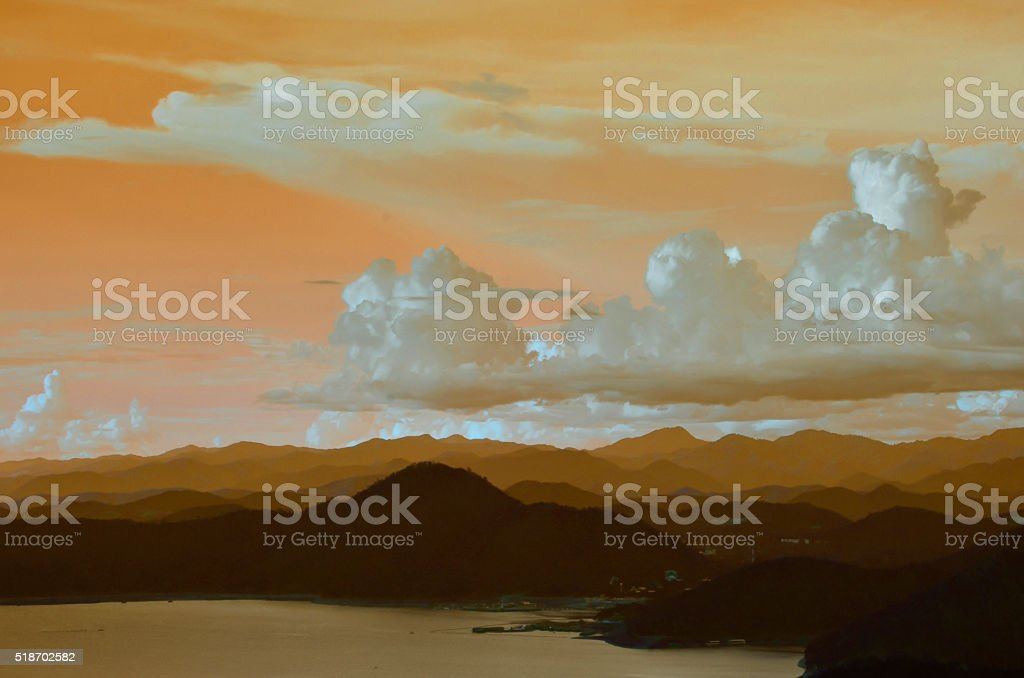 Cloudy sky blur stock photo