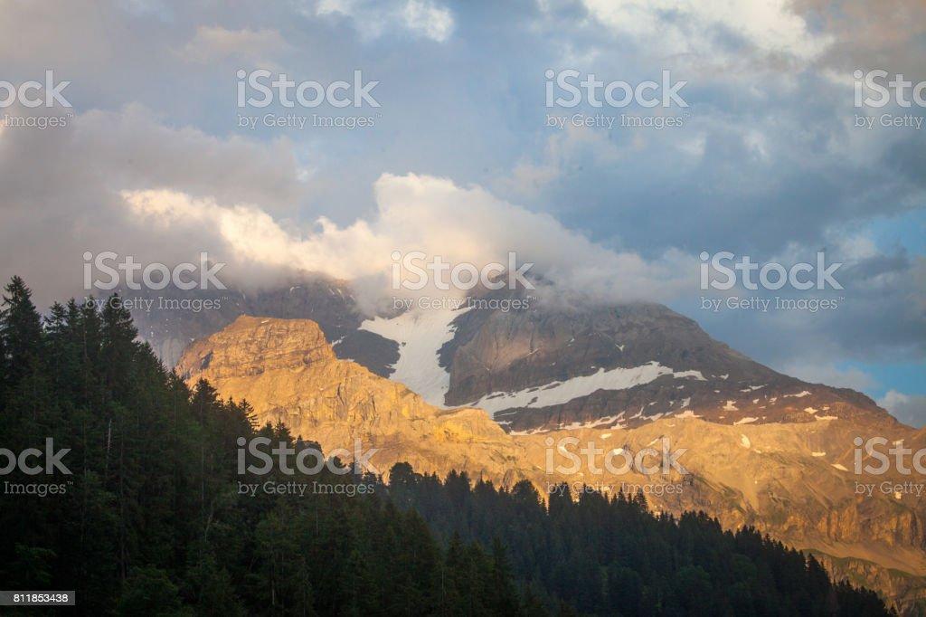 Cloudy Sky Eveing stock photo