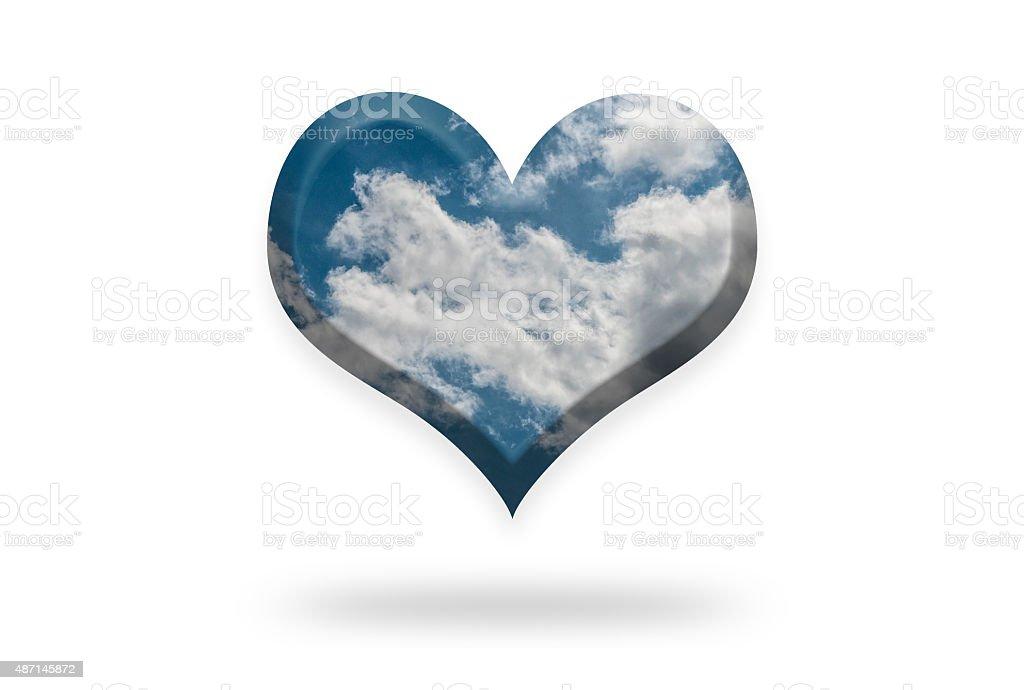 Cloudy Sky Heart stock photo