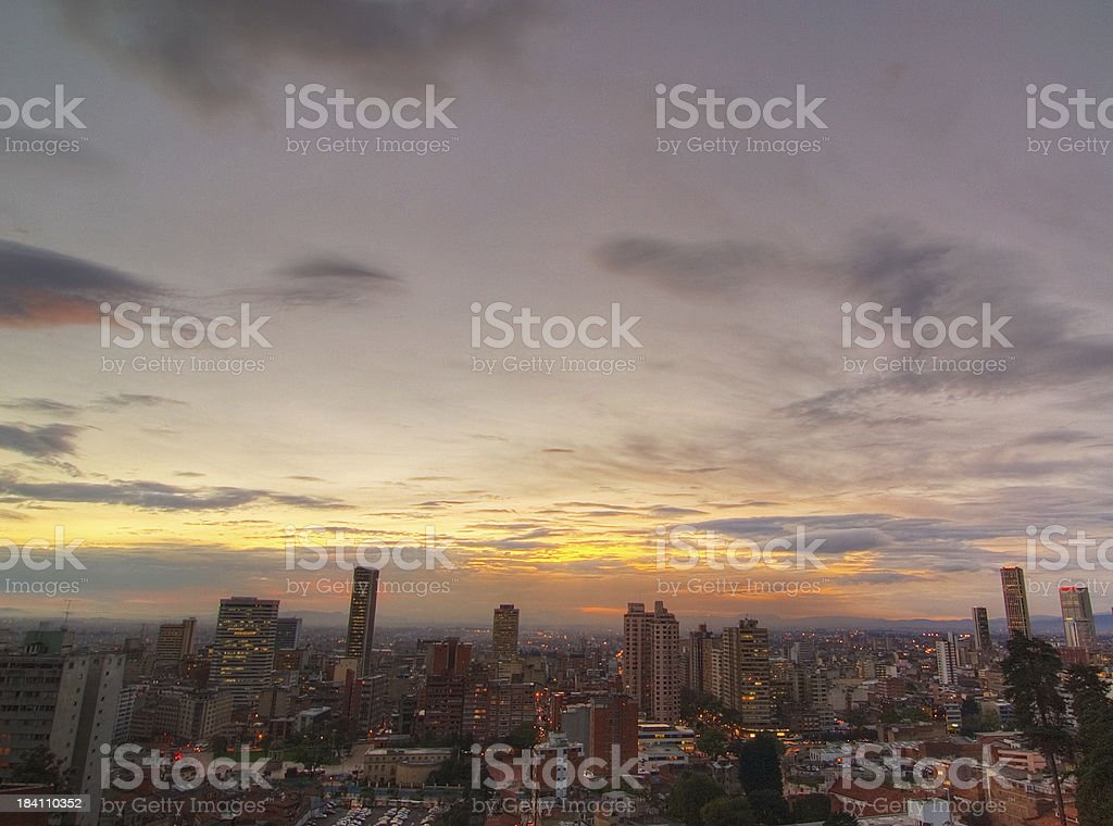 Cloudy sky over Bogot? royalty-free stock photo