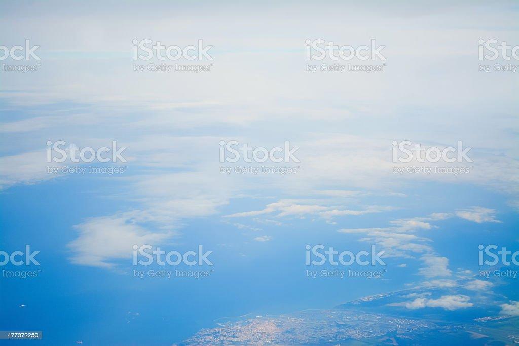 cloudy sky over Costa Smeralda stock photo