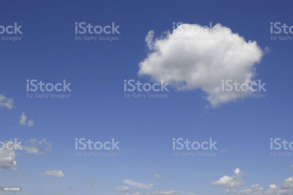 Cloudy sky stock photo