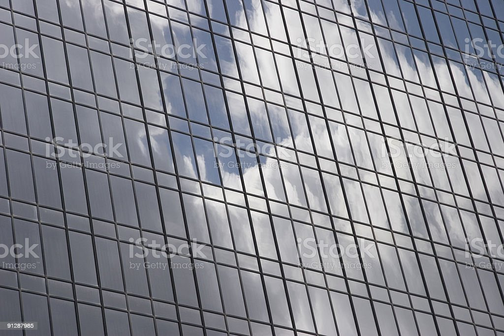 Cloudy sky reflection 2 royalty-free stock photo