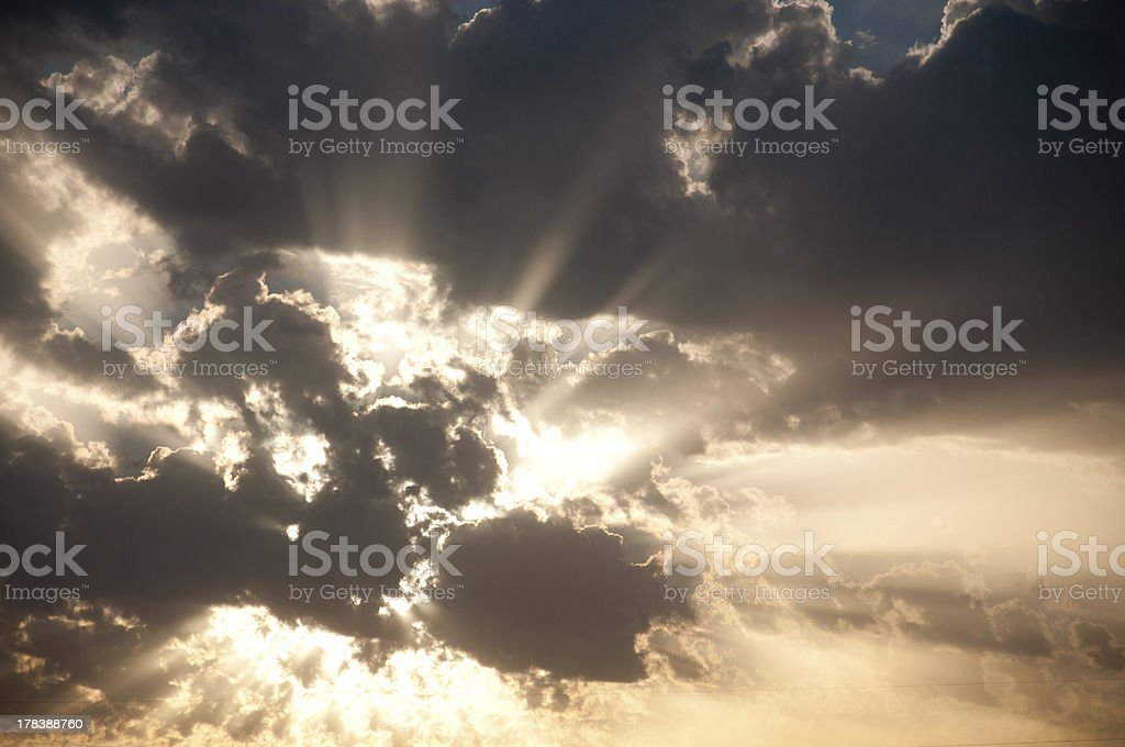 Cloudy Sky Sunset royalty-free stock photo