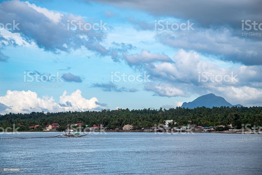 cloudy sky with sea stock photo